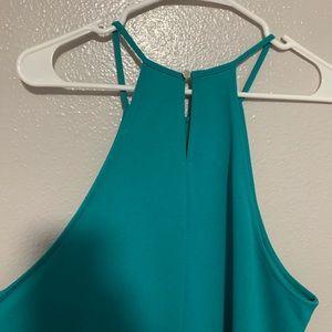 Forever 21 Dresses - Forever 21+ Turquoise Halter Sleeveless Dress